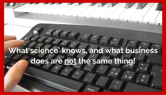 What science knows and what business does 190516 1